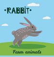 cute rabbit farm animal character farm animals vector image vector image