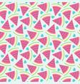 cute watermelon pattern vector image