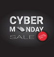 cyber monday super sale poster with computer mouse vector image