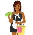 female african american housekeeping worker vector image vector image