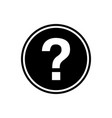 flat icon of question mark vector image vector image