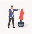getting rid stress concept vector image