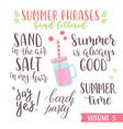 hand written summer lettering phrases vector image vector image