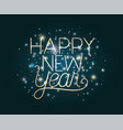 happy new year lettering with lights vector image