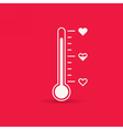 Heart thermometer icon Love card vector image vector image