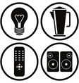 Household appliances icons set 2 vector image