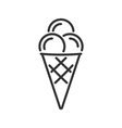 Ice cream line icon vector image vector image