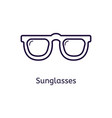 icon of sunglasses on a white background vector image vector image