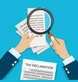 income check for taxes vector image vector image