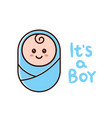 its a boy card baby shower greeting card vector image