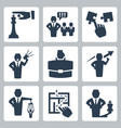 manager and boss related icons set vector image vector image