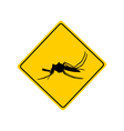 Midge warning sign vector image vector image