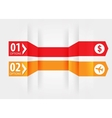 Modern Design template with numbered banners vector image vector image