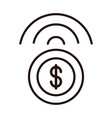 money coin connection shopping or payment mobile vector image