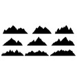 mountain silhouette rocky range landscape shape vector image