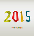 New Year card with folded colored paper background vector image vector image