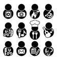 occupations icon symbol vector image