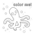 Outline octopus coloring page black and white
