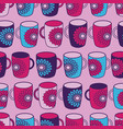 pink flower powermugs seamless pattern background vector image vector image