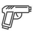 pistol line icon gun isolated vector image