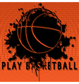 Play basketball vector image