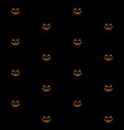 pumpkin face jack o lantern seamless pattern for vector image