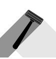 safety razor sign black icon with two vector image vector image