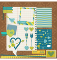 Scrapbook Design Elements - Love Heart and Arrows vector image vector image