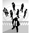 silhouettes of businessmen vector image vector image