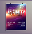 space universe style music flyer template with vector image vector image