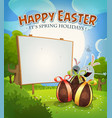 spring time and easter holidays vector image