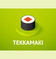 tekkamaki isometric icon isolated on color