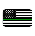 thin green line us flag vector image vector image