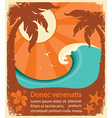 tropical paradise retro poster vector image vector image