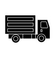 truck mini icon black sign vector image vector image