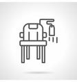Used furniture sale black line icon vector image
