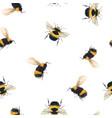 watercolor bumblebee pattern vector image