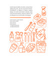 zero waste products article page template vector image vector image