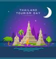 thailand tourism landmarks holy place vector image