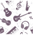seamless musical instruments vector image