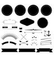 Retro labels elements kit vector image