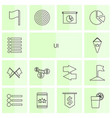 14 ui icons vector image vector image