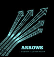 a set arrows in concept championship vector image