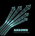 a set arrows in concept championship vector image vector image