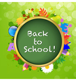 Abstract Green Bubble With Back To School vector image