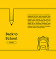 back to school banner poster flat design vector image vector image