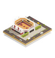 basketball arena stadium isometric composition vector image vector image