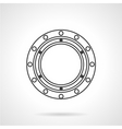 Bearing flat line icon vector image vector image