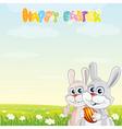 bunny friends vector image vector image