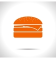 burger icon Eps10 vector image vector image